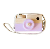 Purple Wooden Camera Toys Rukiwa Baby Kids Cute Accessory Safe And Natural Toys