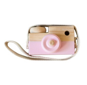 Pink Wooden Camera Toys Rukiwa Baby Kids Cute Accessory Safe And Natural Toys