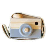 Grey Wooden Camera Toys Rukiwa Baby Kids Cute Accessory Safe And Natural Toys