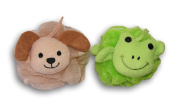 Frog and Puppy Dog Shower Bath Pouffe Bundle