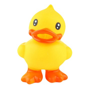 Meanhoo Children Bath Toy ,Stand Up Yellow Duck Pinching Call for Kids Boys Girls and Baby Ducks Swimming Beach Toys