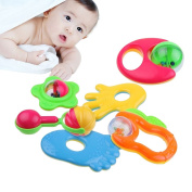 EITC 6pcs Kit Infant Newborn Baby Rattles Handbells Developmental Crib Toys Bed Bells