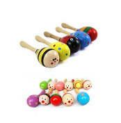 Grocery House Musical Instrument Rattle Sand Hammer Baby Child Wooden Toy