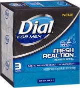 Dial For Men Fresh Reaction Bar Soap, Sub Zero, 3 Count