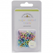 Doodlebug Design - Sugar Coated - Brads - Pastel Assortment