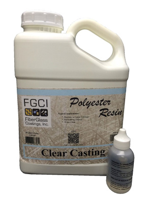 Polyester Clear Casting Resin, 3.8l Kit with 60ml MEK-P Catalyst