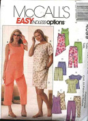 McCall's Sewing Pattern 4099 Misses Size 16-22 Easy Summer Wardrobe Pullover Tops Capri Pants Shorts