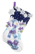Bucilla Felt Applique Stocking Kit (46cm ), 86703 Frosty Night