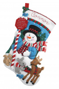 Bucilla Felt Applique Stocking Kit (46cm ), 86707 Santa Stop Here