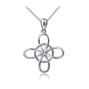 S925 Sterling Silver Good Luck Irish Infinity Celtic Knot, Rolo Chain 46cm