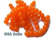 50 X Orange Salmon Eggs carp fishing TROUT fly fishing 8mm Bait