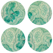 "CoasterStone NC05 ""Teal Agate"" Absorbent Coasters (Set of 4), 10cm - 0.6cm , Multicolor"