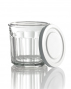 Luminarc Arc International Working Storage Jar/DOF Glass with White Lid (Set of 4), 410ml, Clear