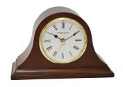 London Clock - Mahogany Finish Napoleon Mantel Clock by London Clock Company