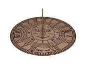 Gusums Messing Solid Sundial, Brass, 25 cm