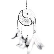 Dream Catcher, RIUDA Circular White Feathers Wall Hanging Decoration Decor Craft