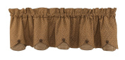 Park Designs Shade of Brown Lined Scalloped Valance, 150cm x 38cm