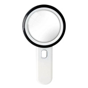 Kaimao 12 LED Light 20X Handheld Magnifier Scratch Resist Clear Lens Loupe Reading Magnifying Glass for Antique, Crafts, Jewellery, Hobbies