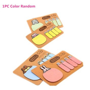 Cute Animal Mini Sticky Notes Memo, SUPPION Kraft Paper Student Stationery 1PC Colour Random