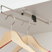 Handles & Ironmongery Pull Out Wardrobe Rail Hanging Storage For Bedroom by Handles & Ironmongery