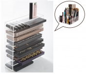 Acrylic Cosmetic Palette Organiser, Makeup Beauty Storage, Cosmetic Display Case, 9 compartments