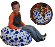 Stuff 'n Sit - Stuffed Animal Storage Bean Bag Cover by Creative QT - Available in 2 Sizes and 5 Patterns - Clean up the Room and Put Those Critters to Work for You!