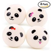 Kuuqa 10cm Jumbo Panda Squishies Buns Squishy Panda Bread Keychains