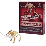 Dig it out Wolly Mammoth Dinosaur Fossils and Assemble a Dino Skeleton Funny Excavation Kit Toys