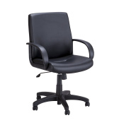 Safco Products 6301BV Poise Executive Mid Back Chair, Black Vinyl
