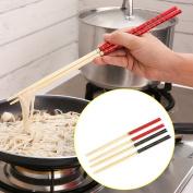 Dealglad® 5 Pairs Kitchen Bamboo Hot Pot Noodles Cooking Non Slip Chopsticks Tableware Dinnerware 33cm