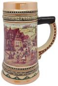 Ceramic Beer Stein with German Village Dancers 1Liter