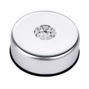 Pixnor@ 7 LED Light Colourful Round Unique Rotating Crystal Display Base Stand