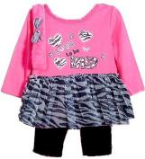 In Fashion Kids Baby-Girls Love to Be Wild Tutu and Legging Set w/ Headband