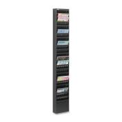 Safco Products 4322BL Steel Magazine Rack, 23 Pocket, Black