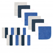 Luvable Friends Washcloths, Dark Blue, 24 Count