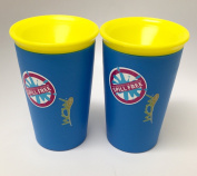 Wow Cup for Kids - NEW Innovative 360 Spill Free Drinking Cup - BPA Free - 270ml (Blue), 2 Pack