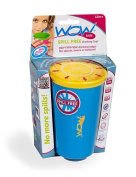 Wow Cup for Kids - NEW Innovative 360 Spill Free Drinking Cup - BPA Free - 270ml (Blue), 1 Pack