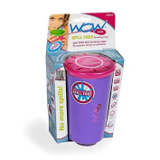 Wow Cup for Kids - NEW Innovative 360 Spill Free Drinking Cup - BPA Free - 270ml (Purple), 1 Pack