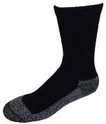 Cushees Men's BLACK (3-pack) Triple Thick Crew Socks [160]