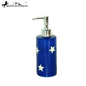 RSM-2009 Montana West Patriotic Stars Ceramic Soap/Lotion Dispenser