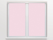Soleil d 'Ocre 042551 Dolly Pair of Brise Bise Polyester 90 x 45 cm Pink