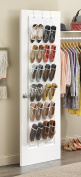 24 Pockets Crystal Clear Over The Door shoe Organiser Hanging Shoe holder for Maximising Shoe Storage and Shoes Rack