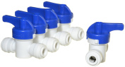iSpring ABV1K Inline Ball Valve with Quick Fitting 0.6cm - 0.6cm fits most RO Water Systems