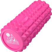 Foam Roller for Best Muscle Massage & Deep Tissue Trigger - Roll & Stretch Tool - 1 Year Warranty