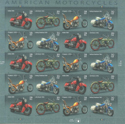 American Motorcycles Collectible Stamp Sheet Scott 4085-88