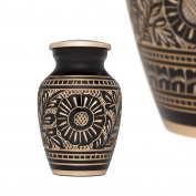 Funeral Keepsake Urn by Liliane - Cremation Urn for Human Ashes - Hand Made in Brass and Hand Enamelled - Fits Small Amount of Cremated Remains - Display Burial Urn at Home or office - For Human Ashes as Well as the ashes of dogs, cats or other pets -  ..