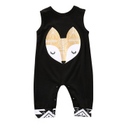 Zolimx Fashion Newborn Infant Baby Fox Print Romper Jumpsuit Clothes Outfits