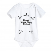 Zolimx Newborn Infant Baby Boys Girls Dad You Got This Letter Print Romper Jumpsuit Outfits Clothes