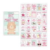 Baby Milestone Cards UK Girl Baby Shower Gifts Girl, New Baby Girl Gifts