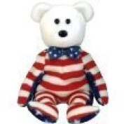 TY Beanie Babies Liberty Bear (White Face) [Toy]